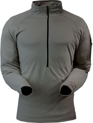 Hunting Utilizing antimicrobial technology, Sitka's lightweight, moisture-wicking Zip T-Neck top provides odor protection. Made of 100% polyester with four-way stretch for increased freedom of movement. Imported. Sizes: M-2XL.Color: Charcoal. - $79.00
