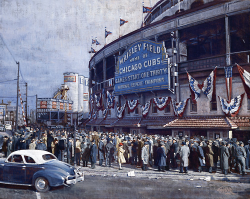 Sports Wrigley Field, October 10, 1945,