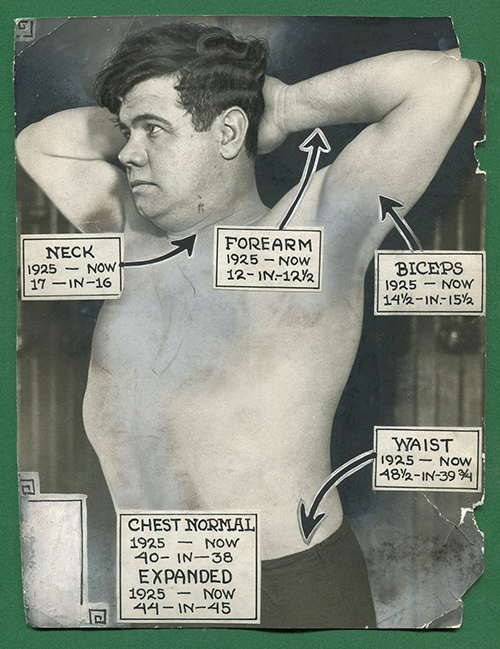 Sports A diagram of Babe's body from 1926.