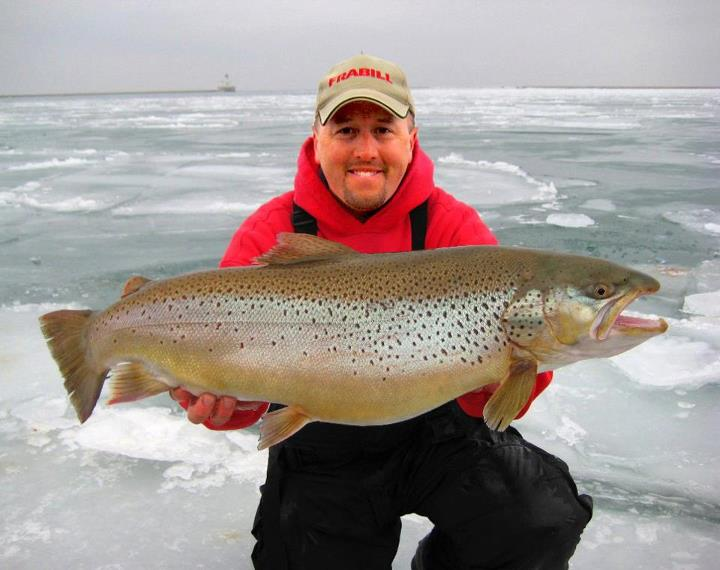 Fishing Great Lakes 2013 Brown Trout Steelhead Ice Fishing School will be January 25th & Jan 26th with Capt. Eric Haataja. This Ice School is designed to teach angler's how to catch Big Browns and Steelhead in the Great Lakes Tributaries, Marina's and Harbors.