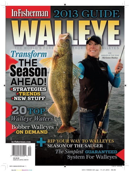 Fishing Congratulations to Frabill Pro Staffer Marianne Huskey on gracing the cover of the 2013 In-Fisherman Walleye Guide.  Watch for the Guide on newsstands in mid-January!