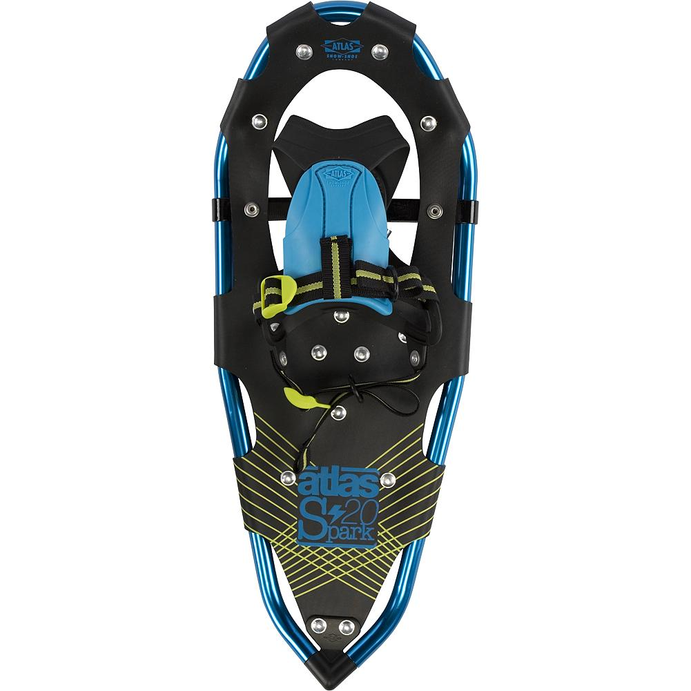 Camp and Hike Atlas Youth Boys 20 - Keep your kids excited about the outdoors in winter. Designed for young enthusiast, age 8 to 12, the Youth 20 snowshoes feature a binding that's easy to use, sizing to fit fast-growing users and durable materials that stand up to a kid's abuse. Simple and intuitive, the EVA tongue of the Grom binding hugs the foot, providing warmth, eliminating pressure points and reducing the hassle of straps. The fixed toe cord keeps the snowshoe underfoot and allows easier maneuvering for energetic kids. Atals' proven, proprietary V-Frame tails and solid tempered steel toe and heel traction offer the performance your kids need to keep smiling and hiking, all day long. - $54.99