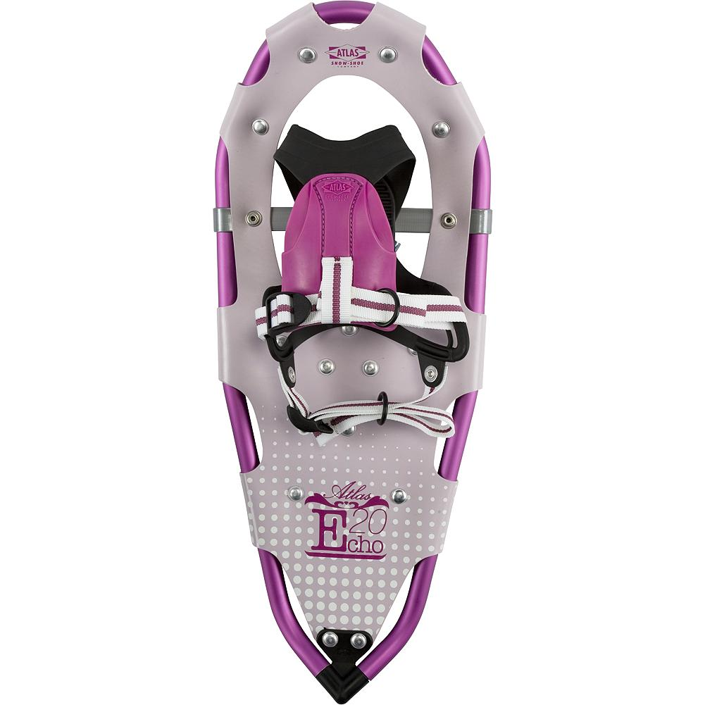 Camp and Hike Atlas Youth Girls 20 - Keep your kids excited about the outdoors in winter. Designed for young enthusiast, age 8 to 12, the Youth 20 snowshoes feature a binding that's easy to use, sizing to fit fast-growing users and durable materials that stand up to a kid's abuse. Simple and intuitive, the EVA tongue of the Grom binding hugs the foot, providing warmth, eliminating pressure points and reducing the hassle of straps. The fixed toe cord keeps the snowshoe underfoot and allows easier maneuvering for energetic kids. Atals' proven, proprietary V-Frame tails and solid tempered steel toe and heel traction offer the performance your kids need to keep smiling and hiking, all day long. - $54.99