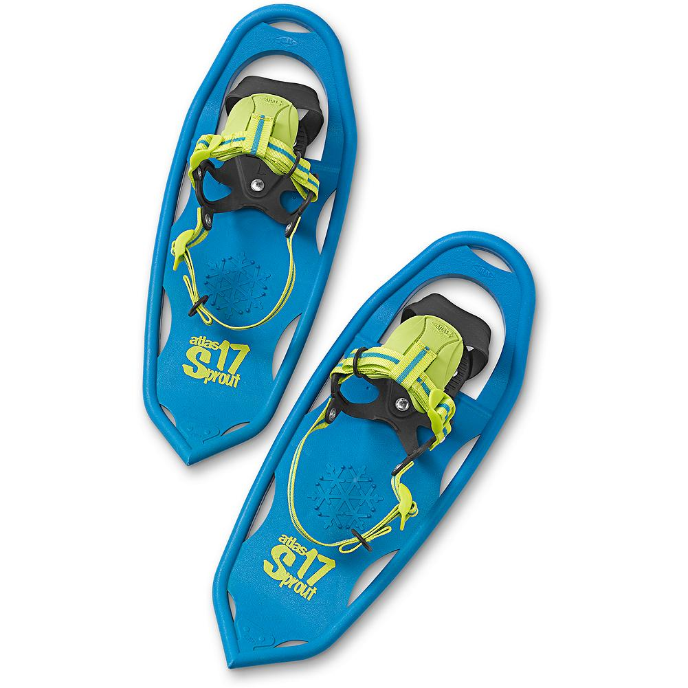 Atlas Sprout 17 - Instill winter's wonder with snowshoes designed for performance - and happy kids! Made to withstand any adventure with proprietary Atlas V-Frame construction and solid tempered steel toe and heel. Simple and intuitive Grom binding with EVA tongue. Created for snowshoers ages 4 to 8. Imported. - $39.99
