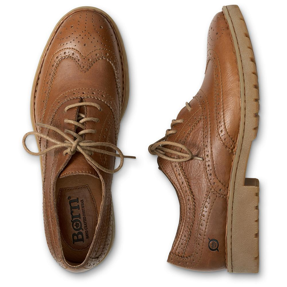 Entertainment B rn Flanagen Wingtip Oxford Shoes - A relaxed take on the classic wingtip oxford with B rn's exclusive handsewn Opanka construction for the best in fit and flexibility. Charcoal has a suede upper; Tan has a leather upper. Durable rubber lug soles deliver excellent traction. Imported. - $59.99