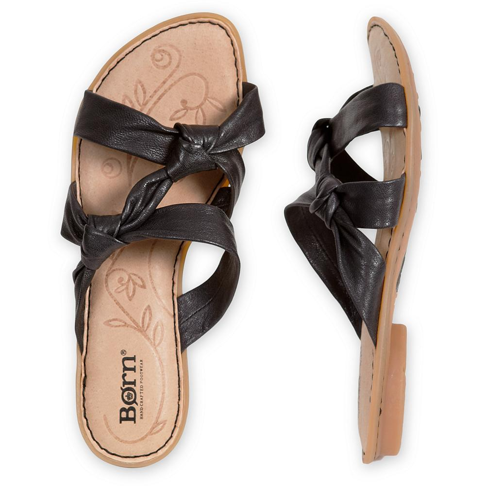 Entertainment B rn Mady Knot Sandals - Soft leather knotted into a pair of uniquely stylish sandals, with B rn's signature hand-sewn Opanka construction providing exceptional flexibility and comfort. Leather lining and footbed with smooth-tread rubber sole. Imported. - $19.99