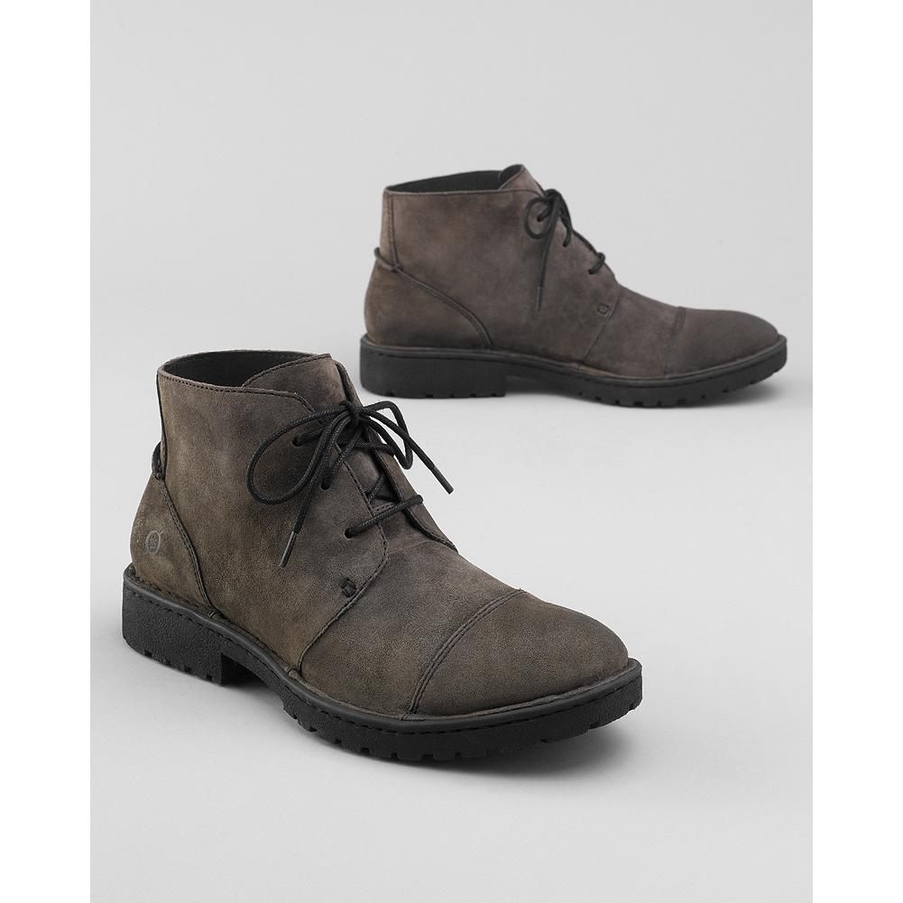 Entertainment B rn Boyd Chukka Boots - Classic chukka boots from B rn, with textured, full-grain leather upper (Charcoal has suede-leather upper), and leather lining. Opanka construction ensures superior comfort, flexibility and durability. Steel shank provides support and reduces foot fatigue. - $140.00