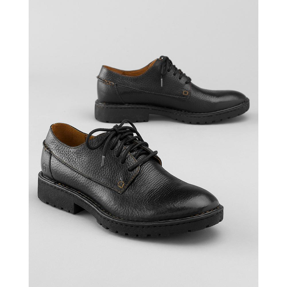 Entertainment B rn Clarence Plain-Toe Oxford Shoes - These oxford shoes are handcrafted with premium materials and feature Opanka hand-sewn construction for superior comfort and flexibility. Leather upper, lining and footbed and rubber sole. - $130.00