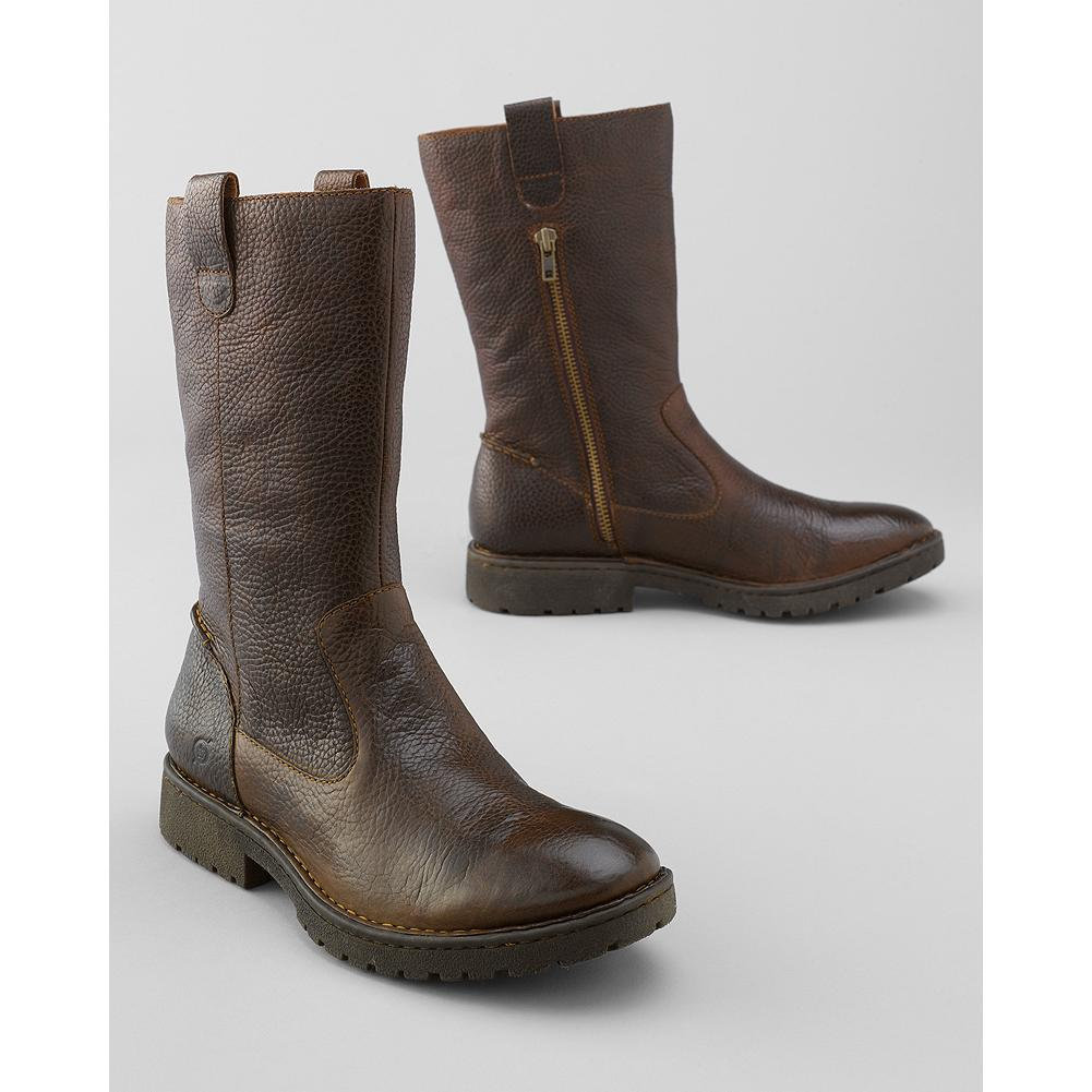 Entertainment B rn Fynn Side-Zip Boots - Extra comfort and flexibility are built right into these rugged side-zip boots, thanks to B rn's signature handsewn Opanka construction. Leather upper, lining and footbed. Rubber sole. - $160.00