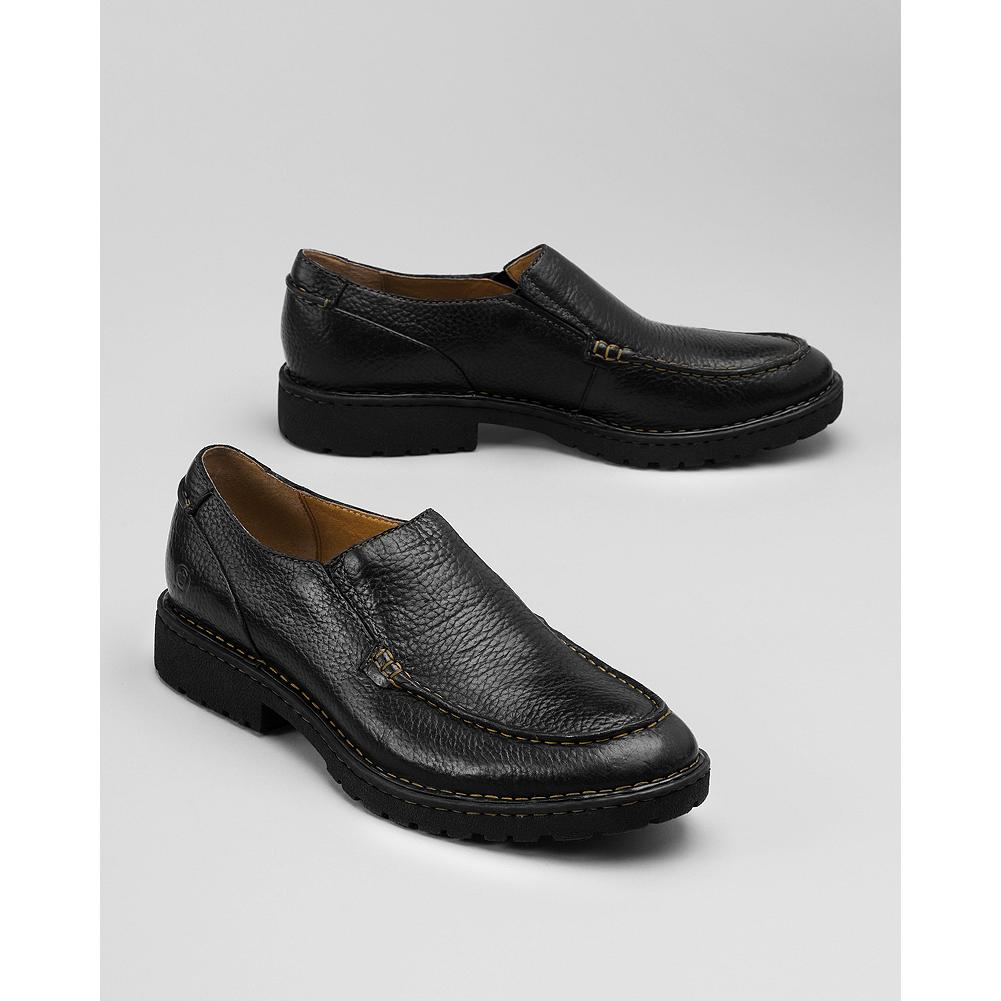 Entertainment B rn Robby Slip-On Shoes - Every Born shoe is handcrafted with premium materials, and features Opanka hand-sewn construction for superior comfort and flexibility. These slip-ons have a leather upper, lining and footbed and a rubber sole. - $130.00