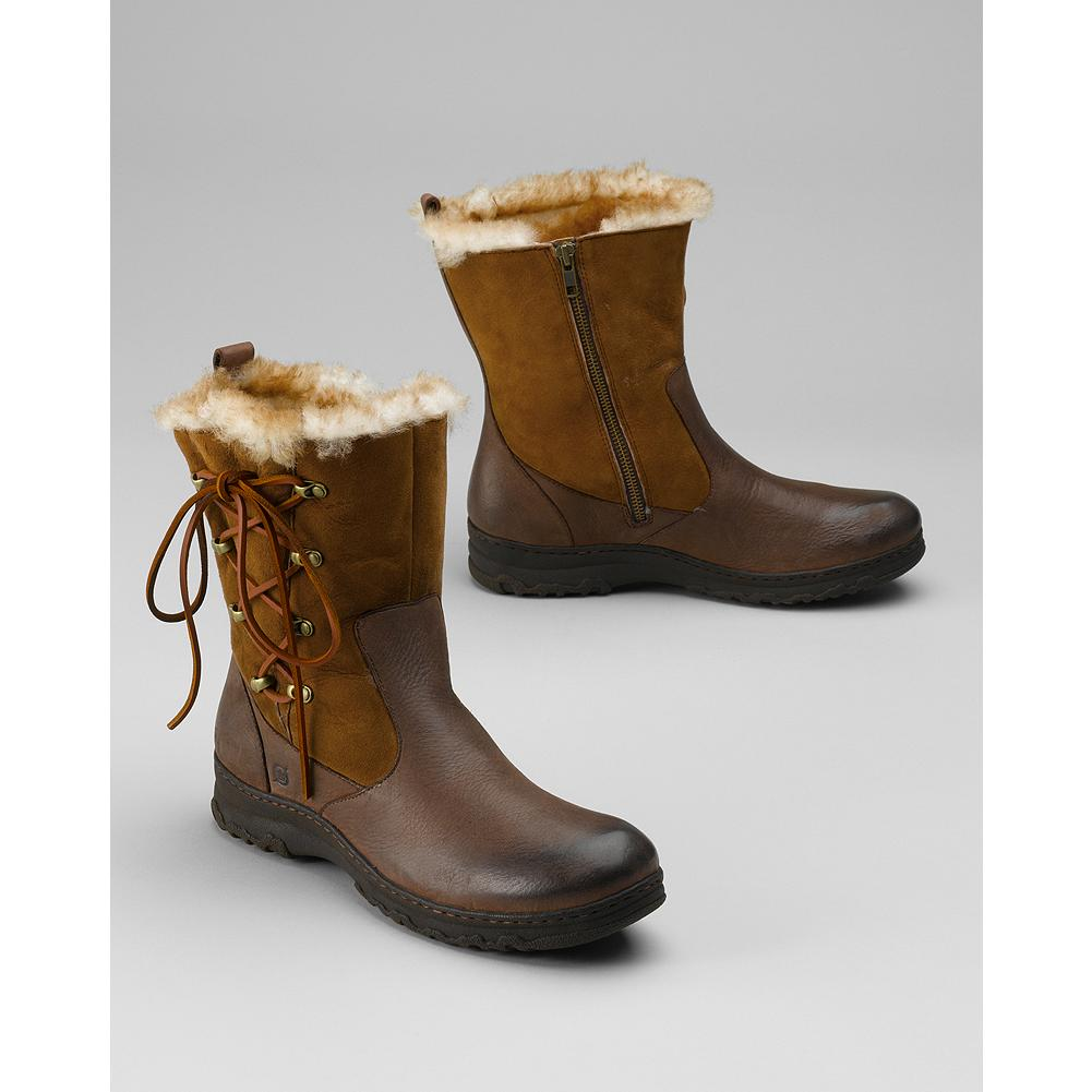 Entertainment B rn Masa Side-Zip Shearling Boots - Created with winter frolicking in mind, these suede-and-leather boots feature a cozy shearling lining and B rn's hand-sewn Opanka construction for exceptional comfort and flexibility. - $64.99