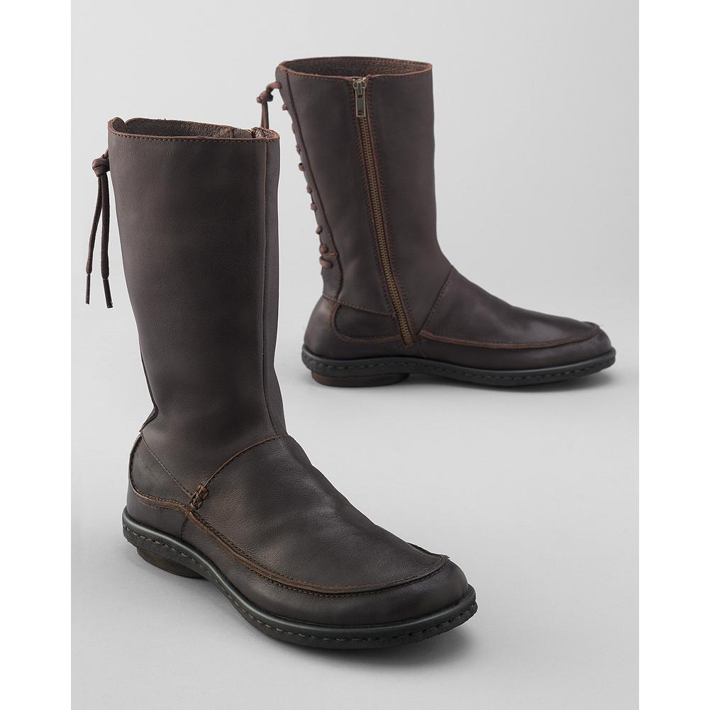 Born Zuki Lace-Up Boots - These lace-up boots by B rn deliver an on-trend look, now with the ease of a full zip. Opanka hand-sewn construction delivers superior comfort and flexibility. Burnished leather upper; all leather lining. Lightweight PVC sole. - $79.99