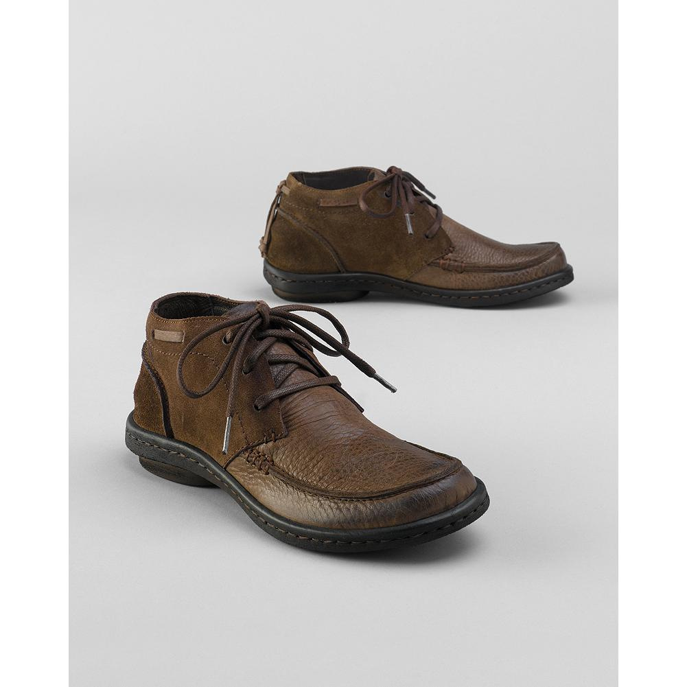 Born Kapona Lace-Up Chukka Boots - A full-grain leather upper with burnished contrasts transforms B rn's classic chukka boot. Leather lining and footbed. Lightweight PVC sole. - $59.99