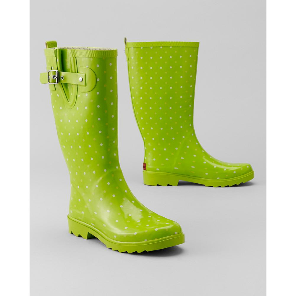 Chooka Dots Classic Rain Boots - Based in Eddie Bauer's hometown of Seattle, Chooka has been making top-quality footwear since 1891. Bright colors with playful white polka dots, high-quality rubber, and a heavy-treaded sole highlight these standout waterproof boots. - $29.99