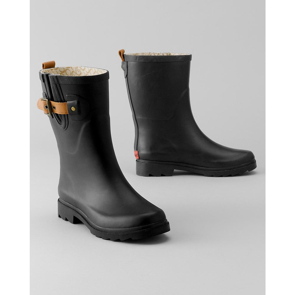Chooka Mid-Height Rain Boots - Based in Eddie Bauer's hometown of Seattle, Chooka has been making top-quality footwear since 1891. High-quality rubber, an expandable gusset with leather buckle tab, and a heavy-treaded sole highlight these mid-height waterproof boots. - $14.99