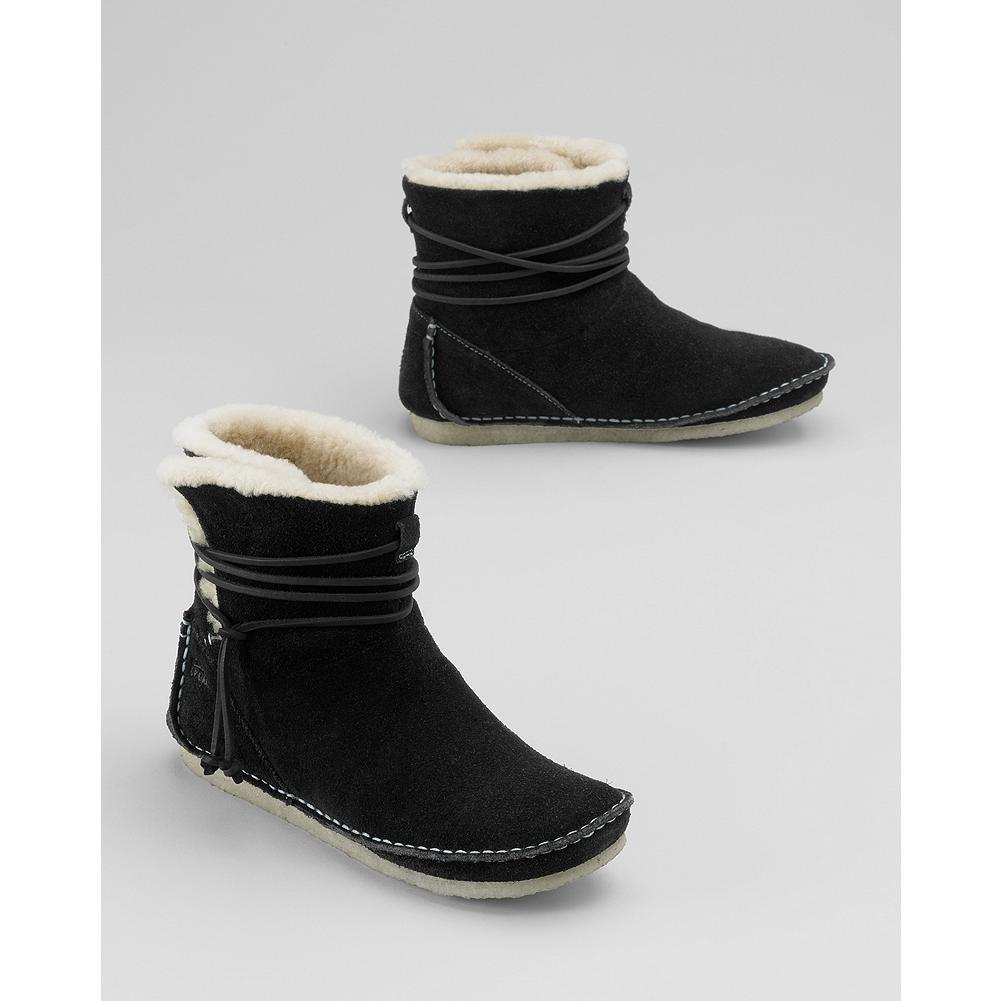 Clarks Faraway Plateau Boots - Clarks' hand-stitched suede slip-on boots offer all-day comfort and style with wraparound rawhide cords for added flair. - $44.99