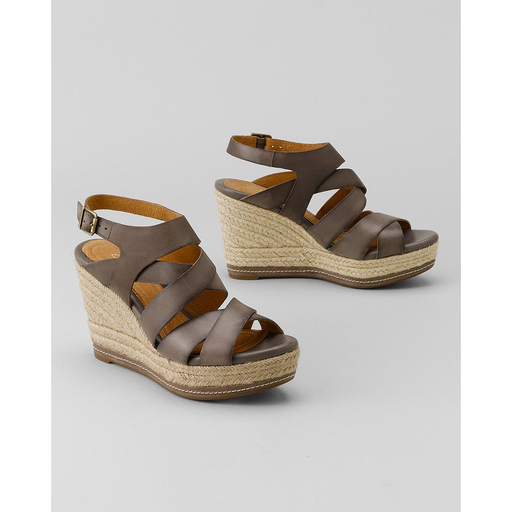 Entertainment Clarks Amelia Drift Sandals - Fashionable height without sacrificing comfort, these well-made Clarks leather-upper sandals feature a rope-covered wedge made for summer strolls. - $59.99