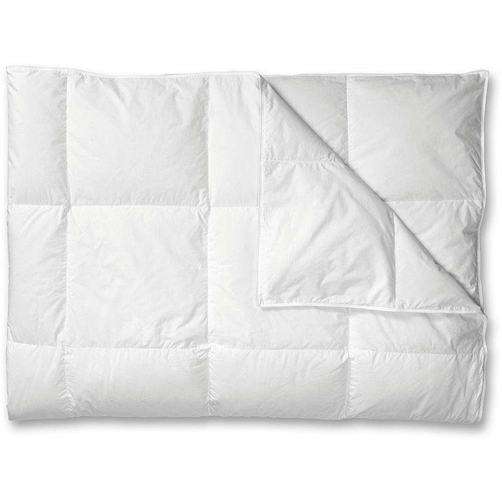 Entertainment Eddie Bauer Classic Goose Down Comforter - Light - You'll keep hitting the snooze button when you're tucked under this comforter. Our most popular comforter features larger boxes to allow our high-fill-power down to loft to its fullest for breathable warmth, while keeping the down from shifting. This comforter provides the warmth equal to one wool blanket. Imported.. - $199.00
