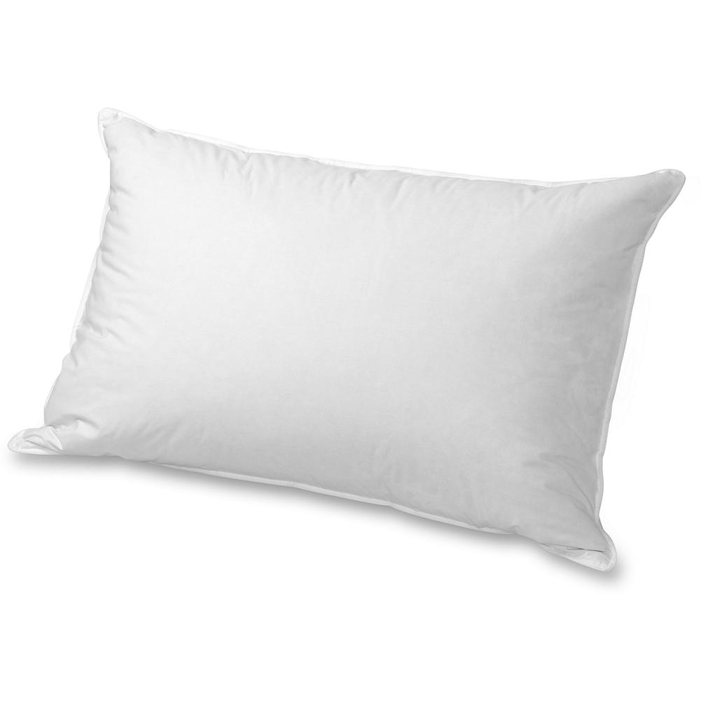 Entertainment Eddie Bauer Classic Goose Feathers & Down Pillow - Our classic Goose Down/Goose Feathers pillow features pillow-in-pillow construction for support. The inner chamber has firm goose feather/goose down fill to stabilize the outer chamber of pure down. Provides great support for stomach and back sleepers. Imported.  Please note: to reduce package size, our pillows are compressed prior to shipping. To restore it to full size, simply give it a good fluffing. - $80.00