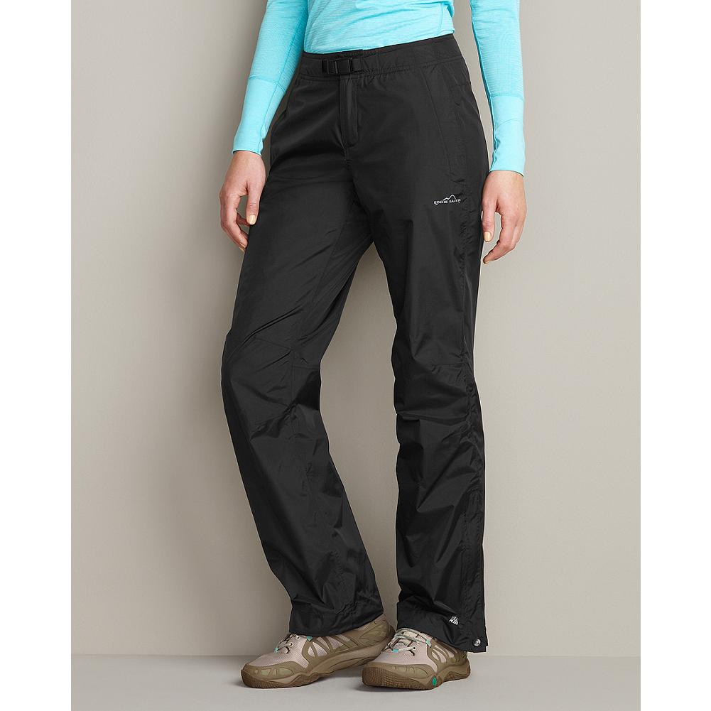 Entertainment Eddie Bauer Nisqually Rain Pants - Fully seam-sealed for superior weather protection, these comfortable, breathable pants are waterproof and windproof. Features a partial elastic waistband with an adjustable, integrated belt. Two side slant pockets with locking zippers. Imported. - $59.99