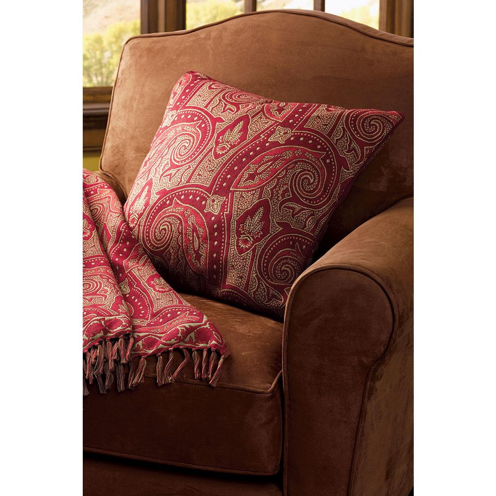 Entertainment Eddie Bauer Paisley Throw Pillow - Inspired by historic paisley shawls of the 19th century, our exclusive pillow is woven in 100% merino wool. Whether layered on our Cascade Canyon Bedding Collection or placed on a sofa or chair, this handsome accent is compatible with both traditional and contemporary decor. Removable pillow insert with decorative cover. Coordinate with our matching Paisley Throw. Imported. - $34.99