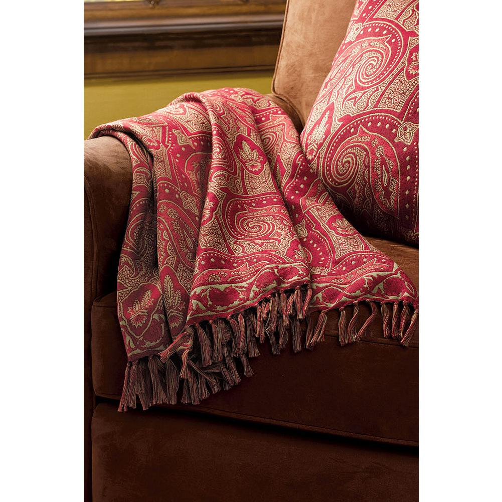 Entertainment Eddie Bauer Paisley Throw Blanket - Inspired by historic paisley shawls of the 19th century, our exclusive throw is woven in 100% merino wool. Whether layered on our Cascade Canyon Bedding Collection or draped at the back of a sofa or chair, this handsome accent is compatible with both traditional and contemporary decor. Coordinate with our matching Paisley Pillow. Imported. - $74.99