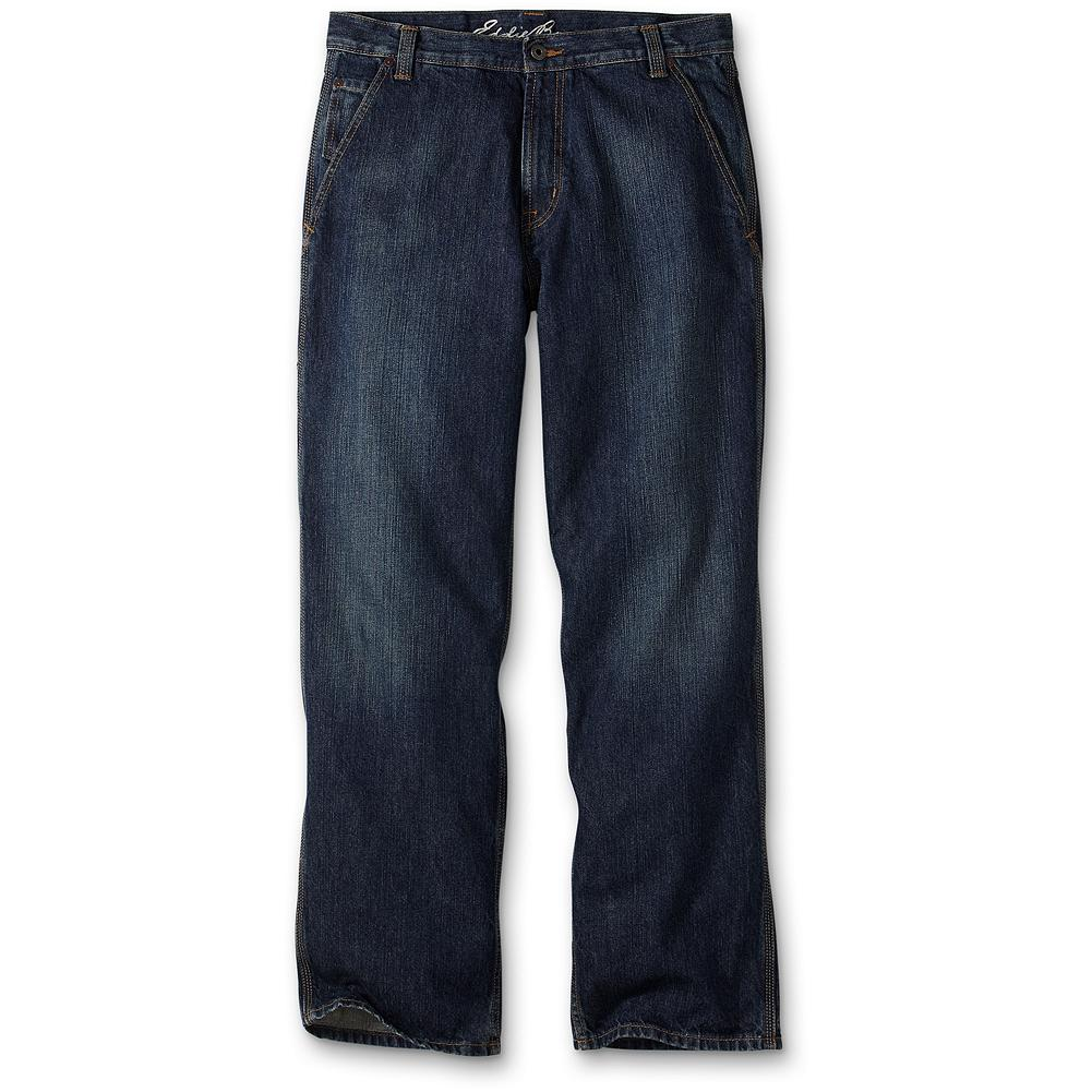 Entertainment Eddie Bauer Loose Fit Carpenter Jeans - A classic style made even better. We've included pockets in all the right places: front slant pockets, utility pockets on the right leg, and a coin pocket at the right front hip. Made of sturdy cotton with slight distressing on the legs and triple-needle stitching to enhance their durability. Imported.. - $17.99