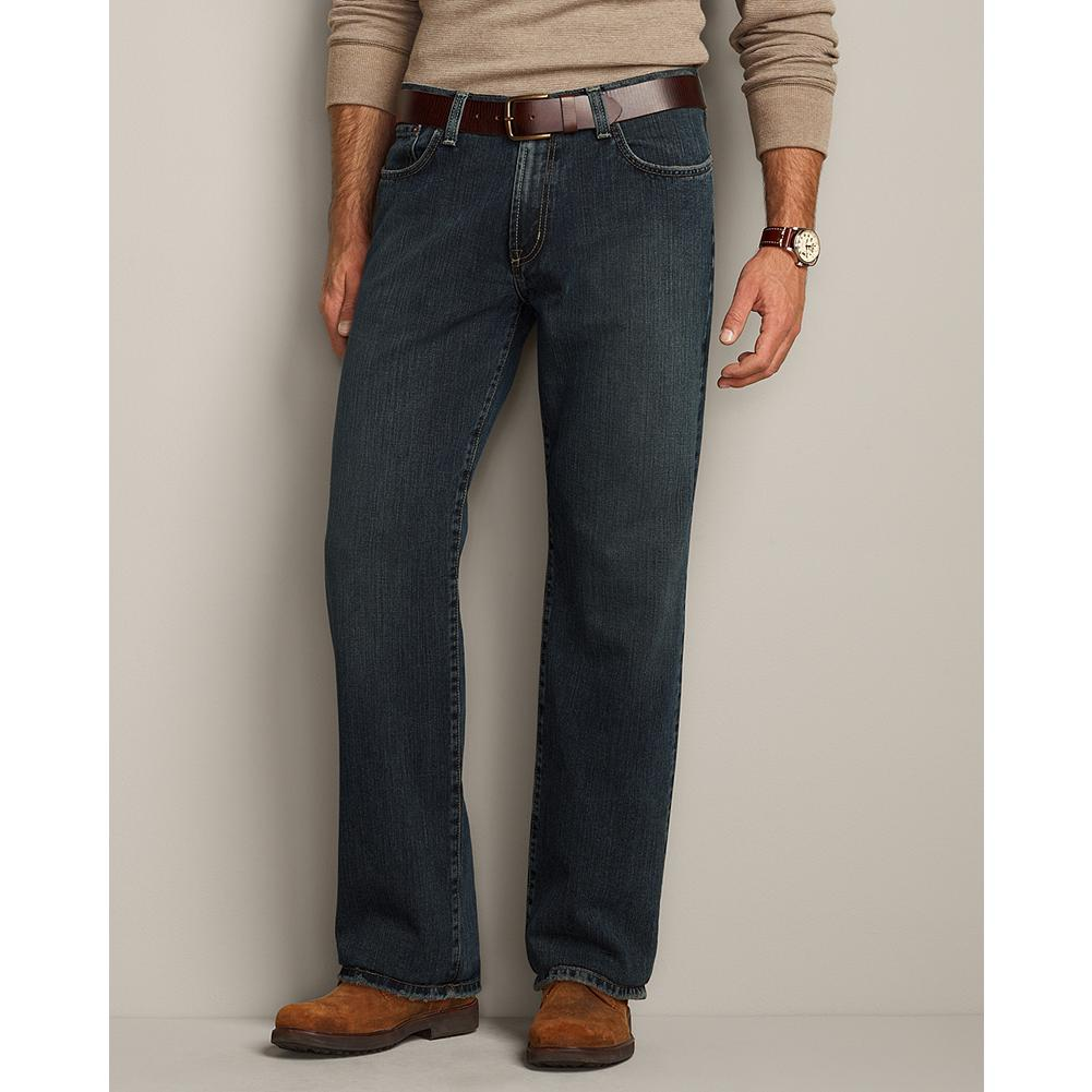 Entertainment Eddie Bauer Relaxed Fit Authentic Denim Jeans - We select high-quality, 12-oz cotton denim for our Authentic Jeans. Each pair is handcrafted using special washes and treatments to create unique weathering and exceptional comfort. Sits just below waist; relaxed seat and thigh; straight leg. - $49.95