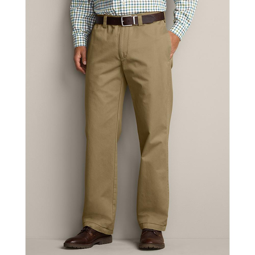 Entertainment Eddie Bauer Relaxed Fit Full Elastic Waist Chino Pants - The full elastic waistband and weather washed chino or denim fabric make a great combination for comfortable pants. Imported. - $44.99