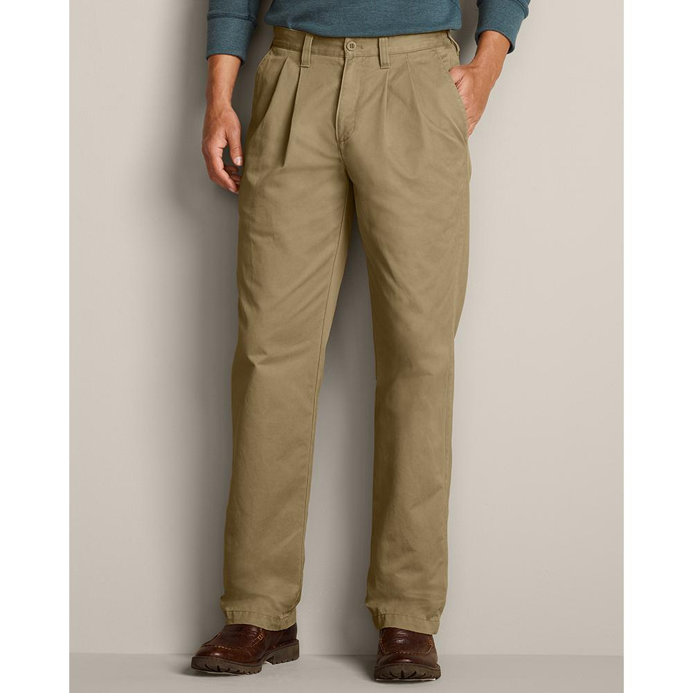 Entertainment Eddie Bauer Relaxed Fit Side Elastic Waist Chino Pants - With extra softness and comfort, our new Weather Washed Chinos are sure to become your favorite pants. Imported. - $44.99