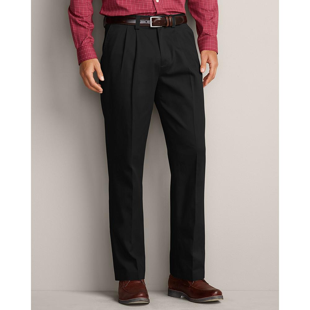 Entertainment Eddie Bauer Classic Fit Pleated Casual Performance Chino Pants - From workday to weekend, you can count on our Casual Performance Chinos to deliver exceptional comfort and style. They're guaranteed to stay true to their color, size, and wrinkle-and stain-resistant performance, wash after wash. And, perhaps best of all, you can wear them right out of the dryer-no ironing necessary. - $59.95