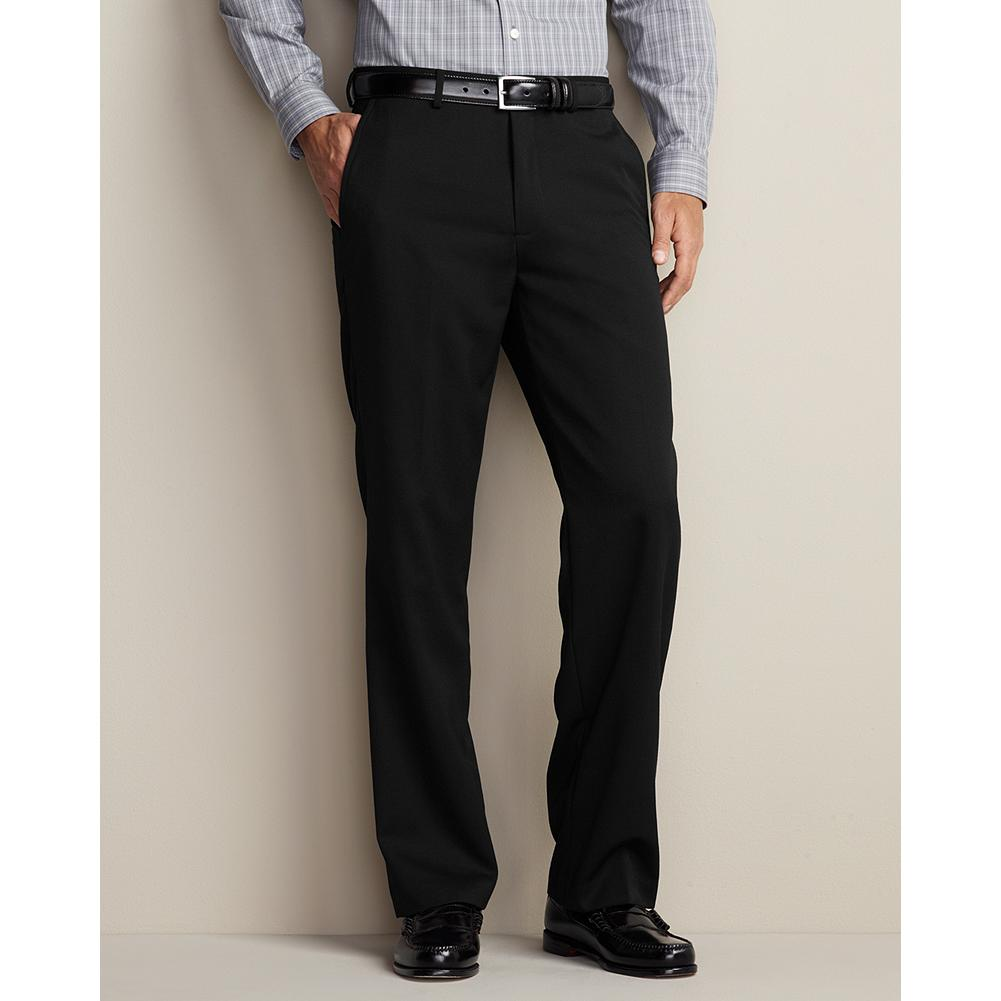 Entertainment Eddie Bauer Classic Fit Flat-Front Wool Gabardine Trousers - These trousers, now offered in our Classic Fit, are lined to the knee on the front panel for added comfort and excellent drape. Imported. - $129.95