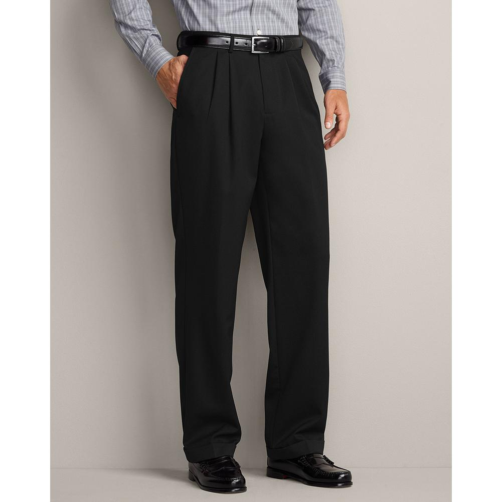 Entertainment Eddie Bauer Classic Fit Pleated Wool Gabardine Trousers - These trousers, now offered in our Classic Fit, are lined to the knee for added comfort and excellent drape. Imported. - $134.95