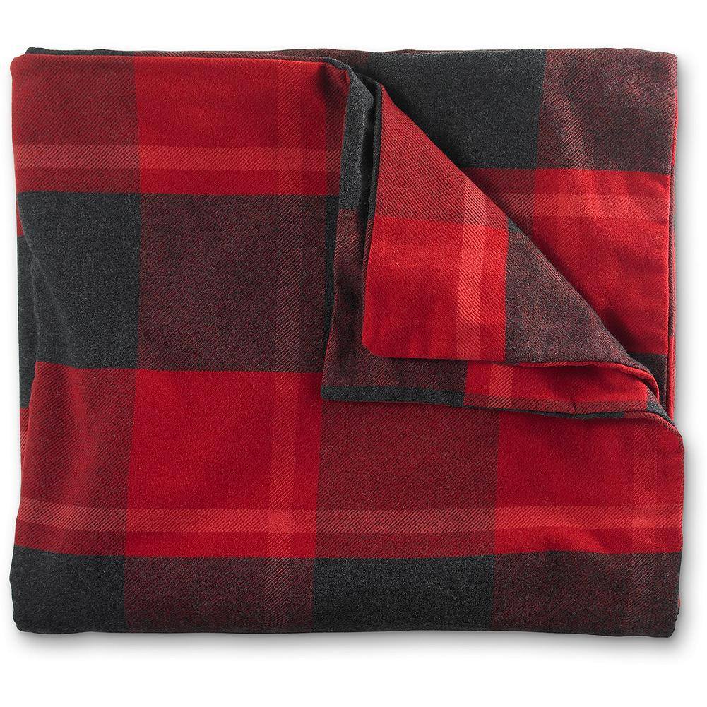 Entertainment Eddie Bauer Lodge Collection Plaid Duvet Cover - Our charming lodge-inspired duvet cover features a classic buffalo plaid pattern and adds a warm, yet casual look to any room. - $199.95
