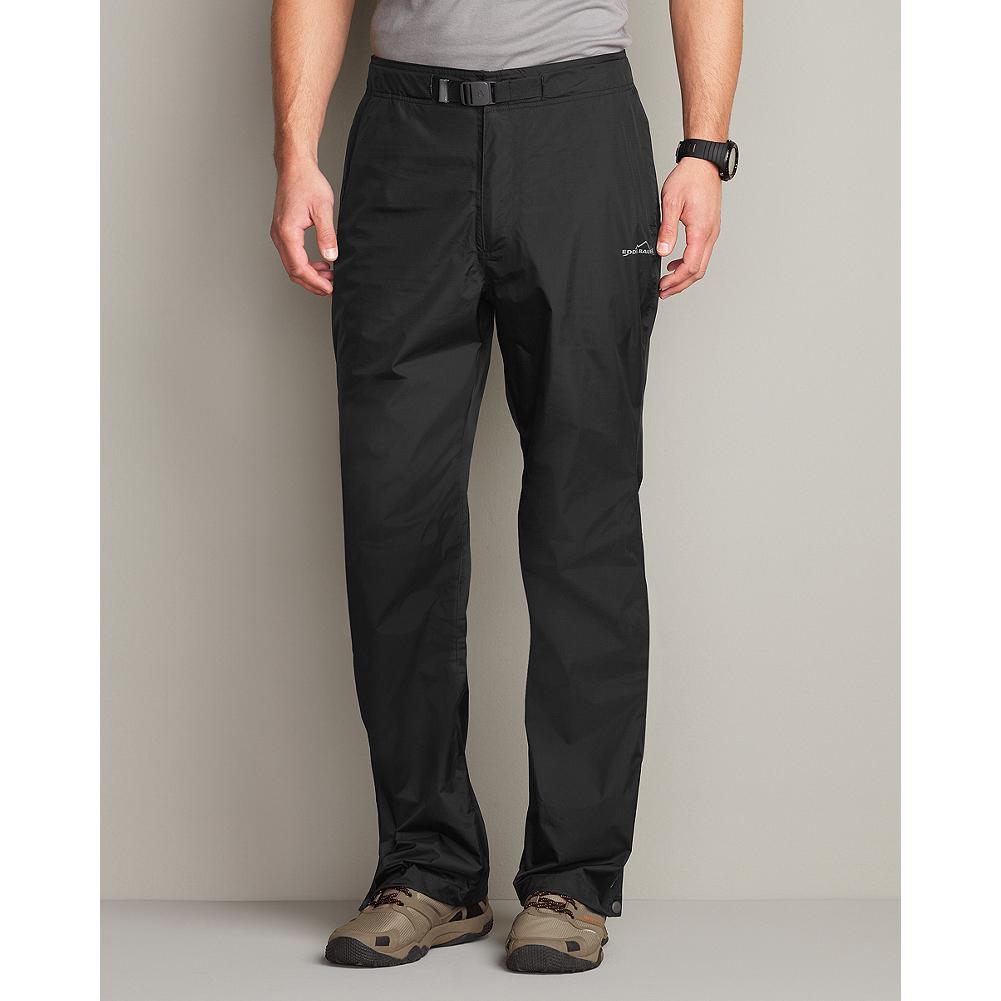 Entertainment Eddie Bauer Nisqually Rain Pants - Fully seam-sealed for superior weather protection, these comfortable, breathable pants are waterproof and windproof. Features a partial elastic waistband with an adjustable, integrated belt. Two side slant pockets with locking zippers. Imported. - $39.99