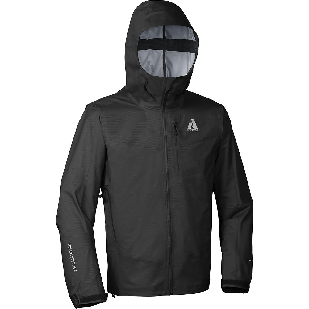 Camp and Hike Eddie Bauer BC-200 Hard Shell Jacket - It's never been done. A 3-layer, waterproof/breathable hard shell with 20K/25K performance and complete welded-seam construction that's under 11 oz. AND under $200. All the protection of a seaman's storm jacket. Yet so breathable and lightweight you can wear it anywhere, any day of the year. Perfect for hiking, climbing, cycling or any other time when you're active and the weather's nuking. The helmet compatible hood is oversized for helmets but can be cinched down to work without. Quite possibly the most versatile gear you'll ever own. The breakthrough fabric, exclusive to Eddie Bauer First Ascent, puts this ultralight in a class by itself. - $199.00