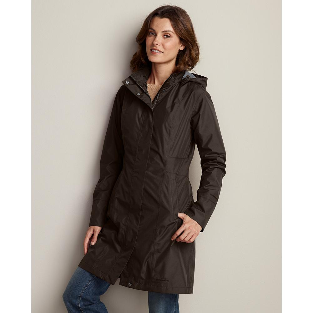 Entertainment Eddie Bauer WeatherEdge Girl on the Go Trench Coat - Surprise showers are no reason to change your plans, just slip into this sleek trench coat. Our waterproof/breathable and windproof WeatherEdge technology provides complete weather protection. Our StormRepel durable water-repellent (DWR) finish causes moisture to bead on the surface and roll off or evaporate rather than soak into the fabric. Fully seam-sealed. - $149.00