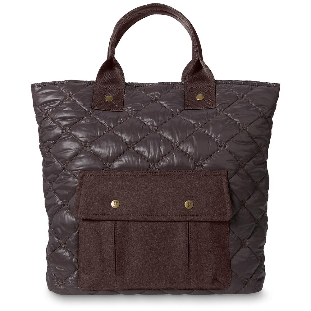 "Eddie Bauer Quilted Tote - This durable nylon tote features our signature diamond quilt pattern and an exterior wool-blend pocket. Finished with cotton twill lining and three interior organization pockets: one zip and two open. Open top with magnet closure. Imported. 6"" strap drop. Imported. - $89.95"