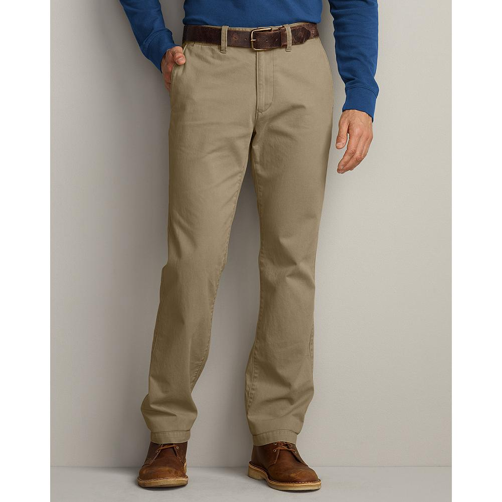 Eddie Bauer Slim Fit Legend Wash Chino Pants - These laid-back chinos are made of soft cotton twill and treated with our exclusive Legend Wash for a broken-in look and feel from the first time you put them on. They sit below the waist with a slimmer, but not skinny, fit through the leg and thigh. Imported. - $39.99