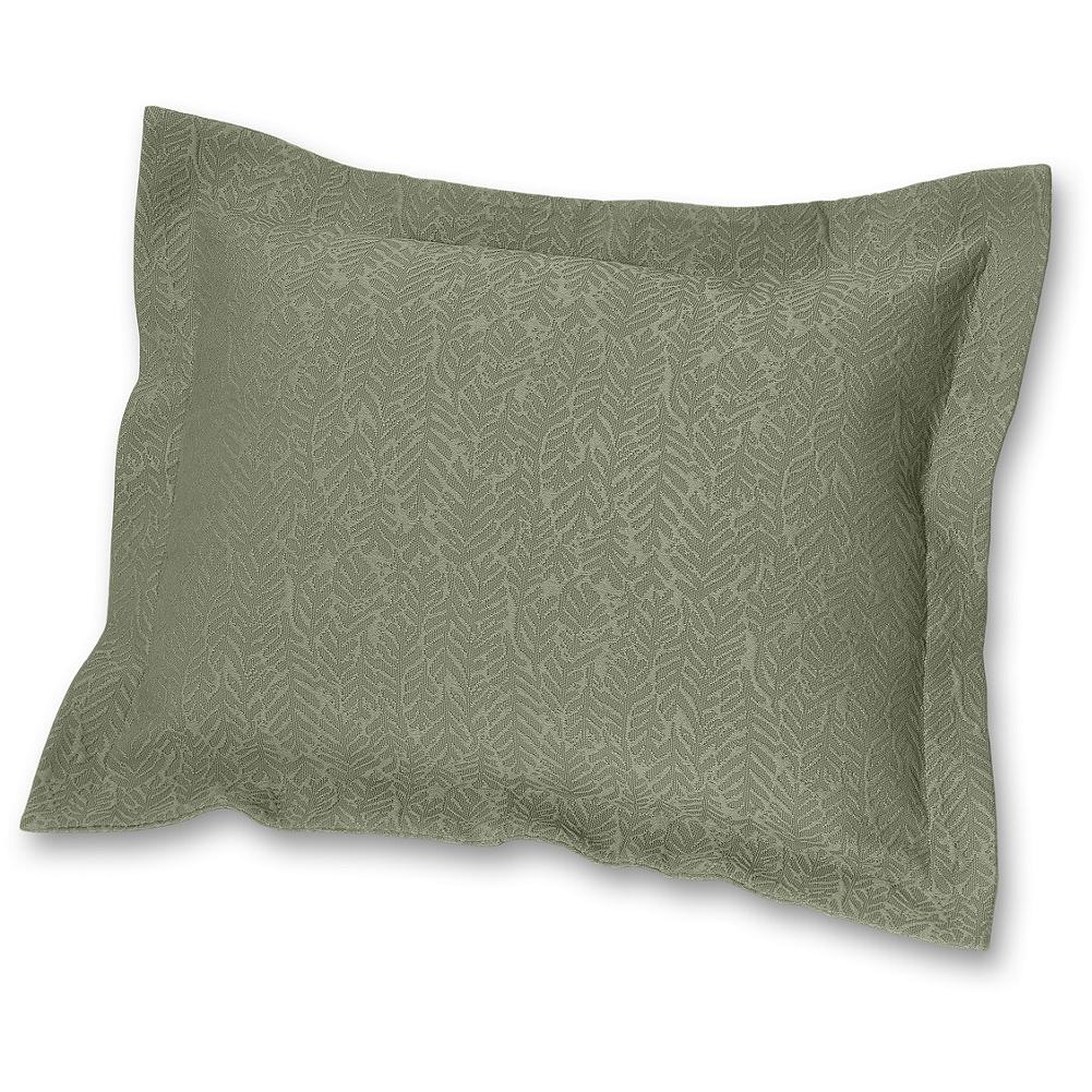 Entertainment Eddie Bauer Cascade Canyon Sham Pillow - The inspiration our designers find in nature is showcased in our Cascade Canyon collection. A structured leaf pattern creates a meandering vertical pattern in a yarn-dyed cotton matelasse sham. This updated collection-a marriage of casual and tailored elements-is built for lasting quality and appeal. One each. Imported. - $29.99