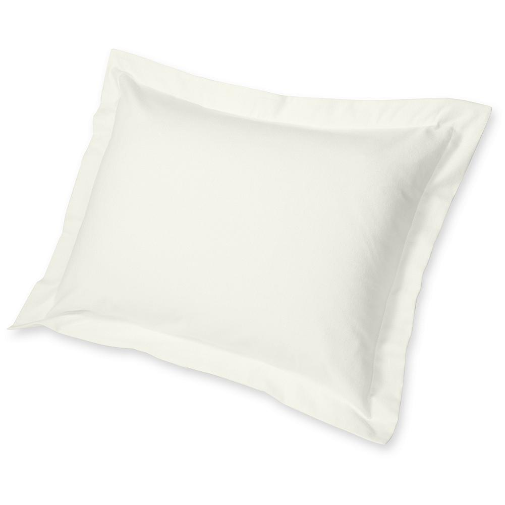 Entertainment Eddie Bauer 5.4 Oz. Solid Flannel Pillow Sham - Woven from 100% pure brushed cotton, this soft flannel pillow sham comes in a range of natural tones. Mix and match it with other great colors and patterns in our Flannel Collection. Made in Portugal. - $29.95