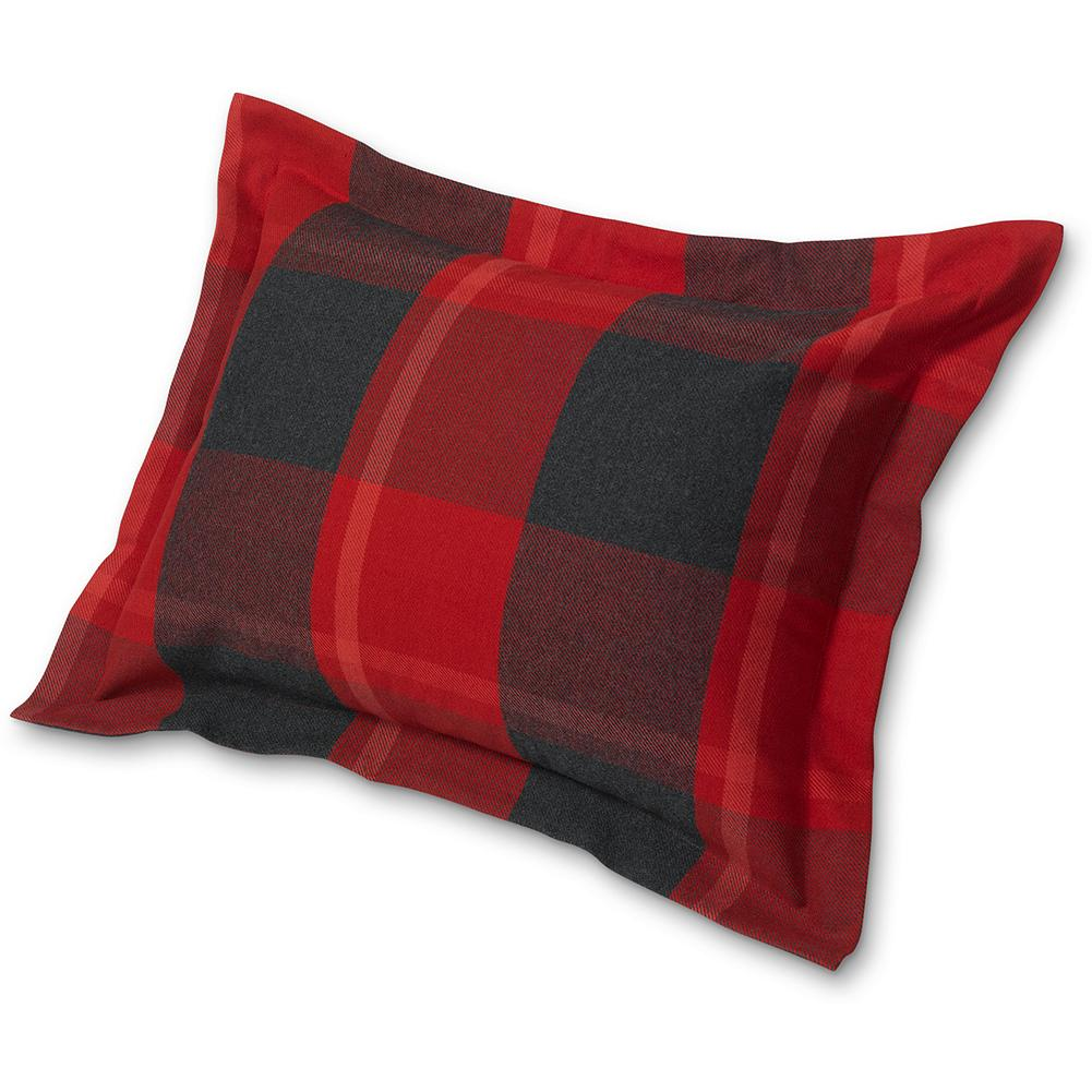 "Entertainment Eddie Bauer Lodge Collection Plaid Sham - This timeless plaid sham is made of 100% yarn-dyed cotton and features a 2"" full perimeter flange. The 5 1/2"" overlap for the sham opening makes it easy to insert and secure your pillow. Made in Portugal. - $49.95"