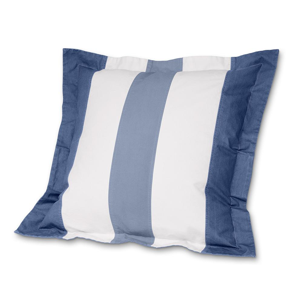 Entertainment Eddie Bauer Striped Euro Sham Pillow - We love this sham's sail-inspired piecing and the softness of its specially washed cotton canvas. Imported.. - $29.99