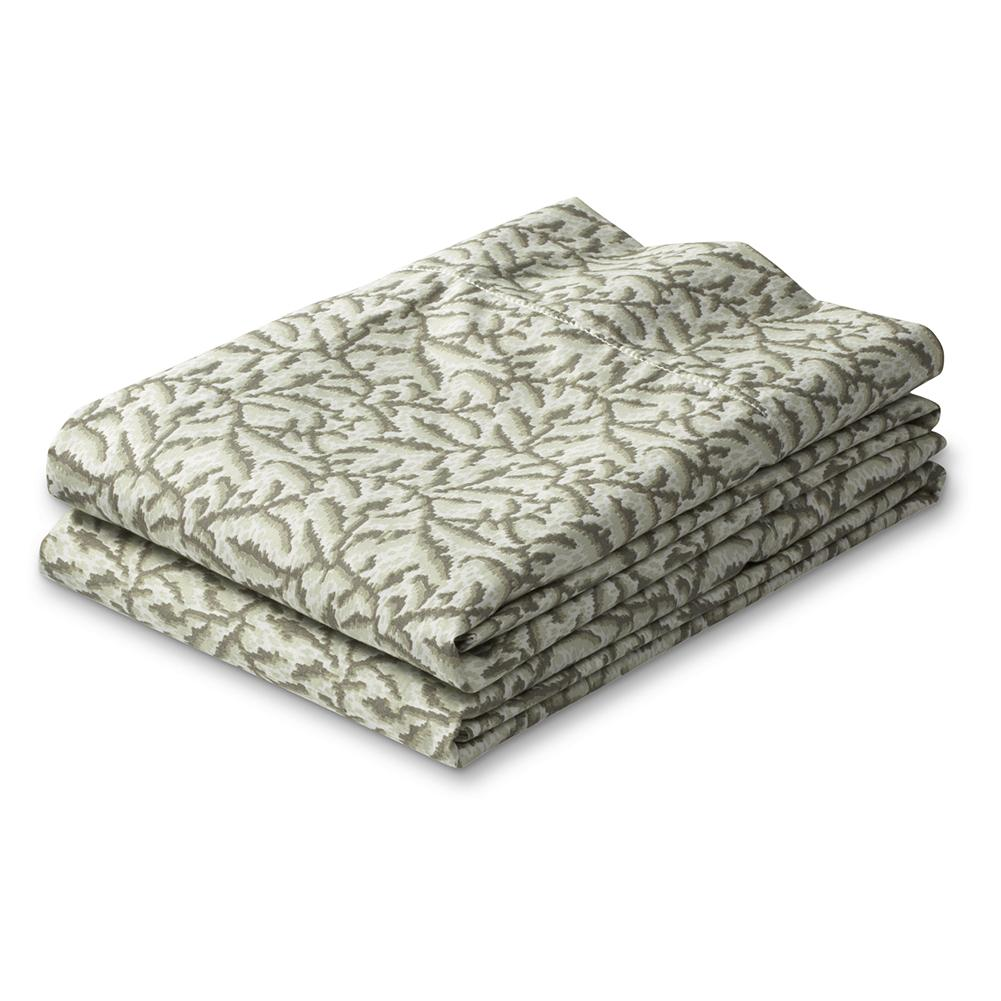 Entertainment Eddie Bauer Printed Percale Pillowcase Set - These beautiful leaf-pattern pillowcases are made of Egyptian cotton - the world's finest - providing the ultimate in comfort and luxury. A special finish adds a touch of luster and smoothness, and piping detail at the hem adds the finishing touch. Set includes two standard pillowcases. Imported. - $19.99