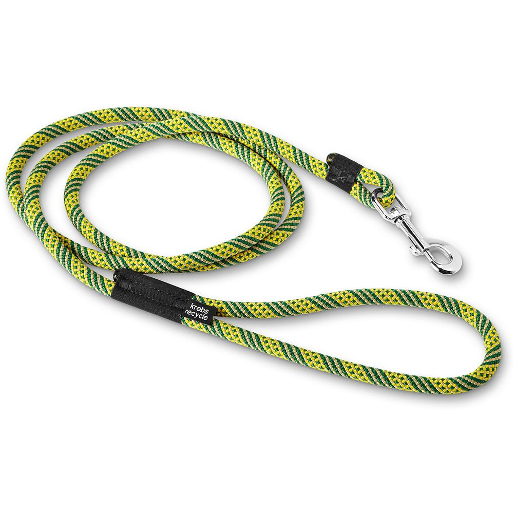 Climbing Eddie Bauer Krebs Recycled Leash - An exceptionally durable, high-quality dog leash, made from retired climbing rope and retired Cordura cloth, manufactured by a family-owned business in Seattle. These products are actually upcycled, which means the retired rope is used in its original form; no carbon-intensive processes are used to create the leashes. Convenient 6' length, with a swivel snap for easy connection to your dog's collar. Due to the upcycle process of this product, variations in color may occur. Made in USA. - $12.99