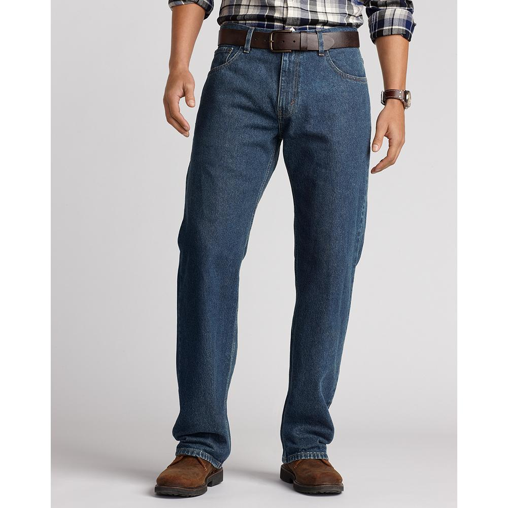 Eddie Bauer Classic Fit Five-Pocket Jeans - A great pair of jeans is something that never goes out of style, so we make ours out of heavyweight 13.5 oz. cotton denim for indestructible comfort that will last for years to come-guaranteed. Each of our four great fits is available in long rise sizes, as well as regular and short inseams, so you're sure to find a pair that fits you perfectly. - $19.99