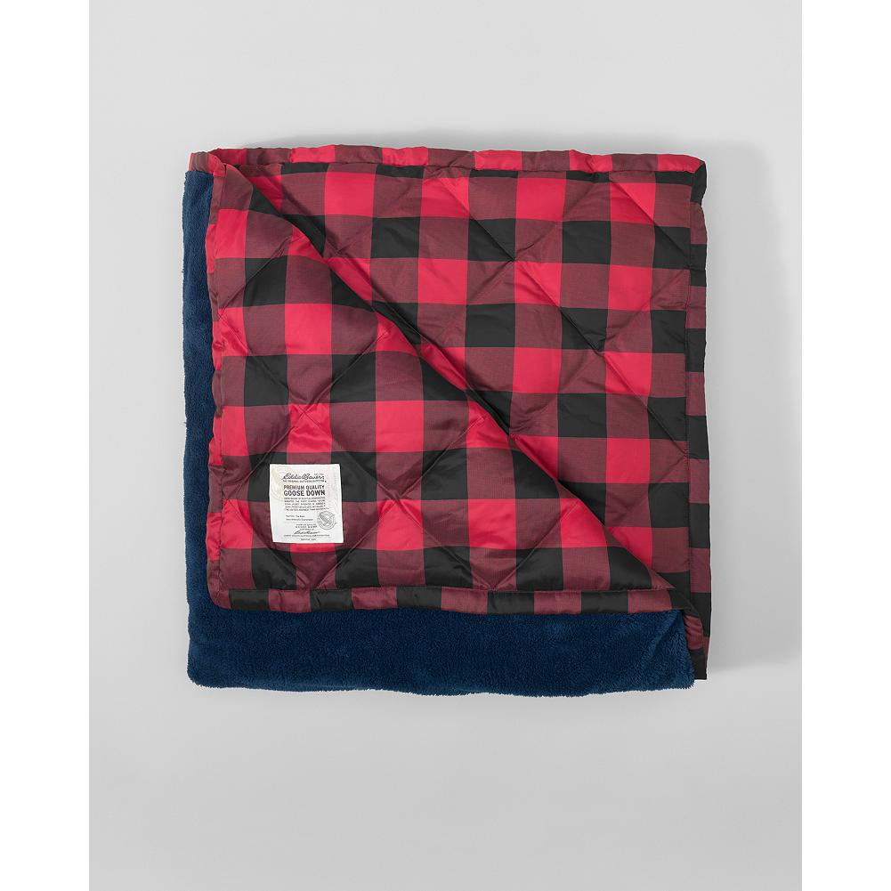 "Entertainment Eddie Bauer Oversized Fleecy Down Throw - Our best-selling throw is back and better than ever, with toasty 550 fill Premium European Goose Down insulation and a new 72"" x 50"" oversized shape that gives you even more snuggling room. - $59.99"