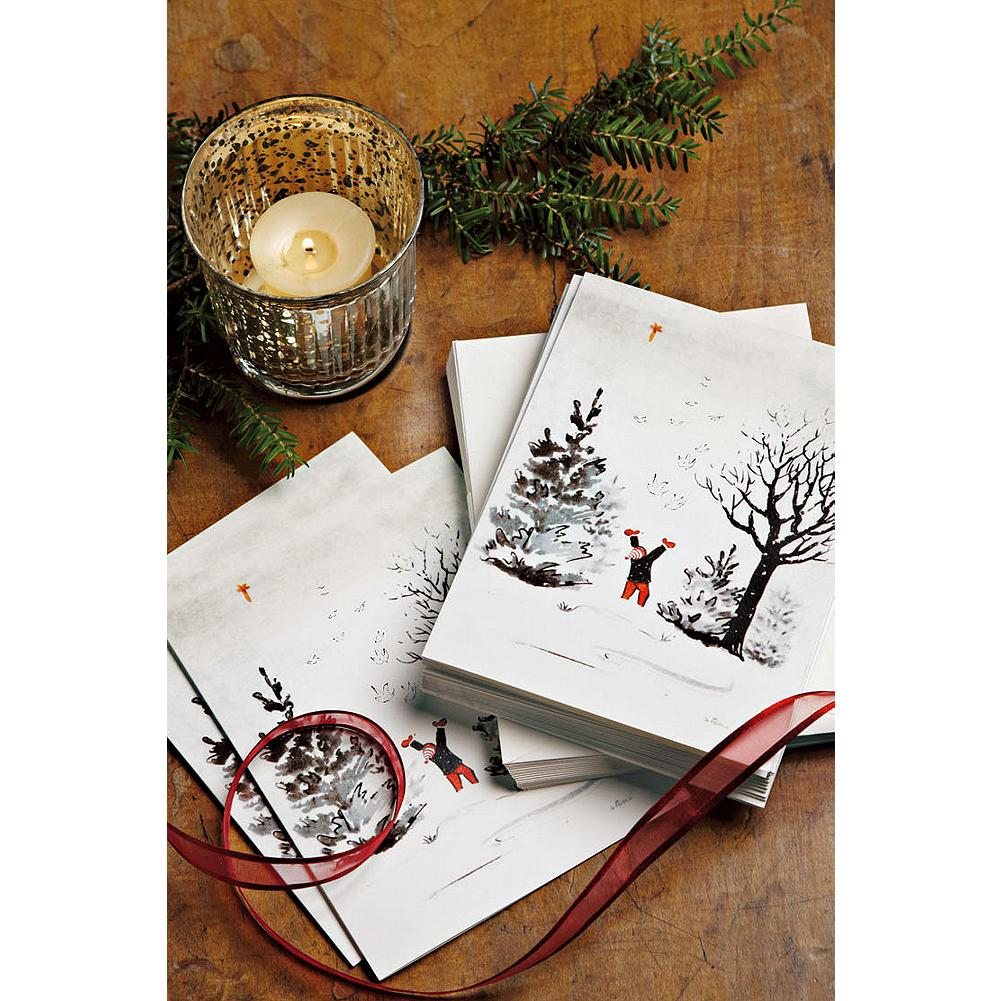 Entertainment Eddie Bauer Stine Snow Day Greeting Cards - This unique set of 20 blank greeting cards is reproduced from one of Stine Bauer's original hand-painted holiday scenes. - $4.99