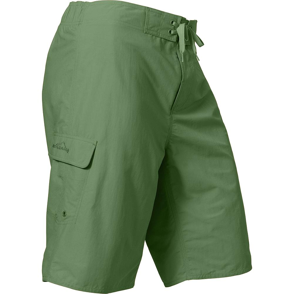 Kayak and Canoe Eddie Bauer Paddle Swim Shorts - These shorts combine the comfort and security of a light mesh lining with board-short styling to create a look you'll live in at the beach or on the weekend. Featuring a half-elastic waist for comfort, Velcro fly closure and a side cargo pocket with Velcro tab closure. Slim, active fit. Nylon. Imported.. - $19.99