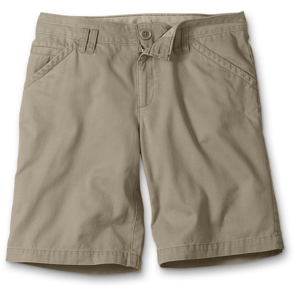 "Eddie Bauer Blakely Fit Legend Wash Shorts - Embrace your curves in these supersoft cotton Legend Wash shorts. Broken-in comfort, split waistband and double front belt loops. Blakely fit. Inseam: 10"". Imported. - $9.99"